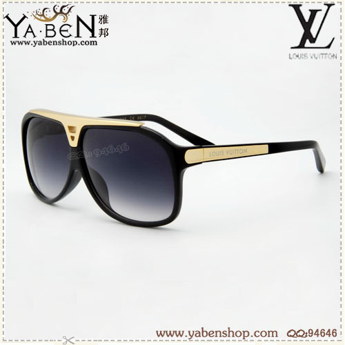 LOUIS VUITTON  SUNGLASSES Golden black Z0105w .,
