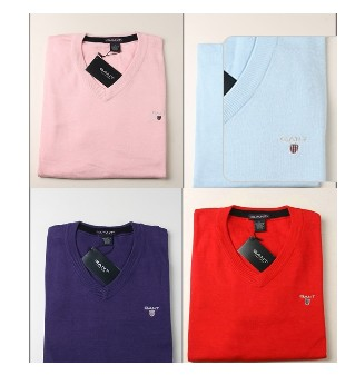 New Style Gant Polo Men's V-Neck cashmere Sweater A1