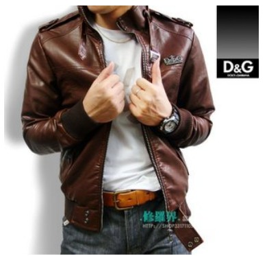 Dolce & Gabbana New D&G Men leather Jacket