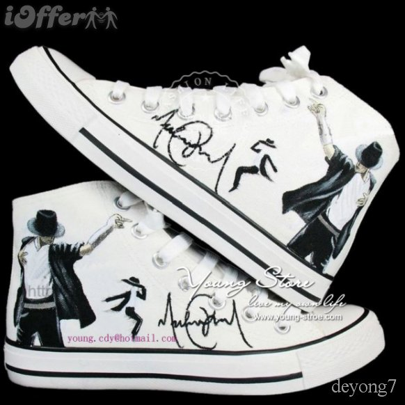 Michael Jackson Converse All Star men shoes women shoes