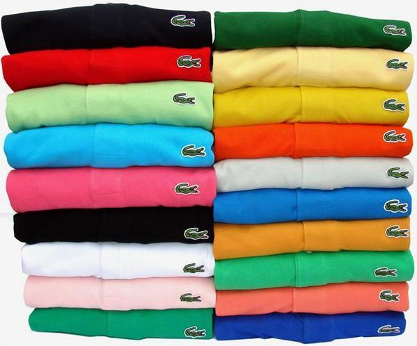 10 piece Polo LACOSTE men short t-shirts sent via EMS