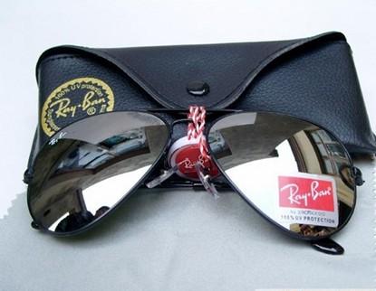 New Ray ban RB 3025 Aviator Black Frame Sunglasses