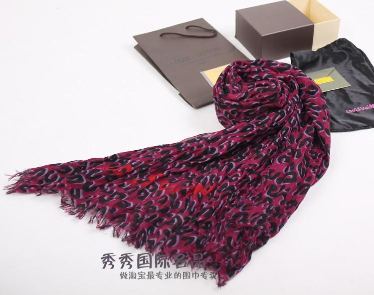 NEW DESIGN Louis Vuitton LEOPARD SPRAY scarf wraps