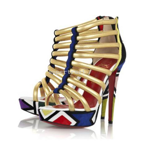 ch ristian Louboutin Ankle Sandals Golden shoes