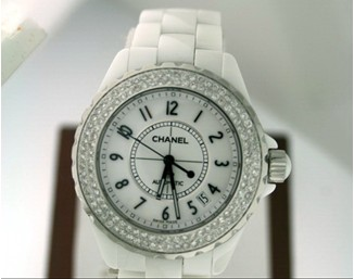 White Chanel Cerami Watch Men's Women's Lovers watches