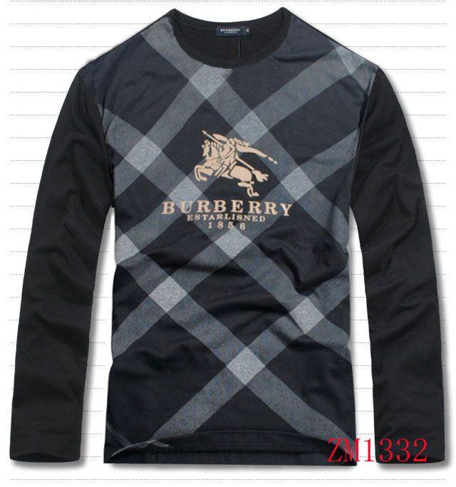 2012 Burberry men's clothing long sleeve T-shirt
