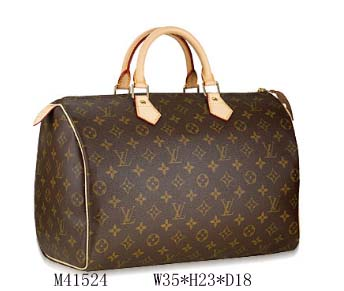 LV Louis Vuitton Monogram canvas speedy 35 Bag M41524