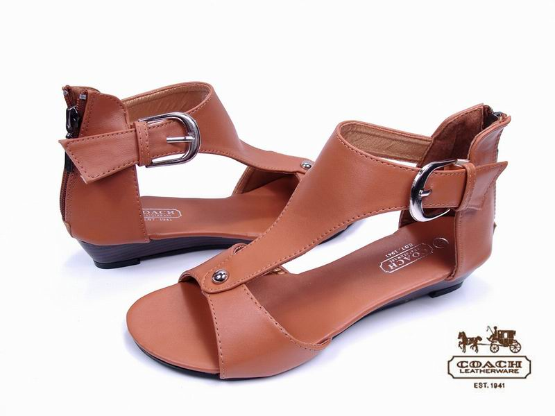 Coach Roman leisure Sexy With buckle Slope Sandals^