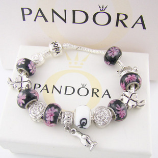 925 Sterling Silver With Pandora Beads Bracelet A005