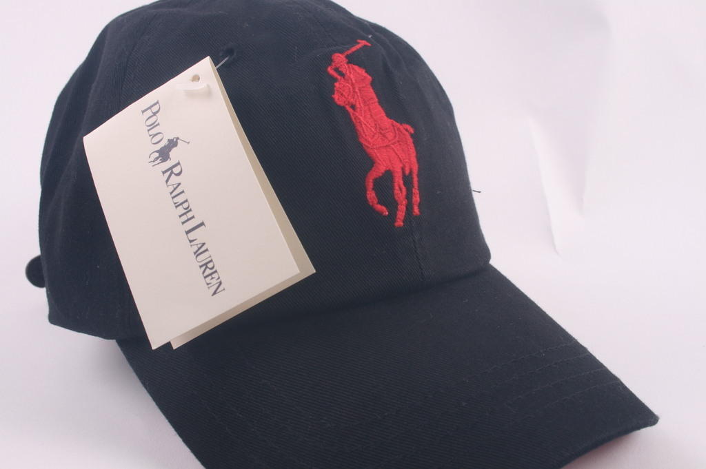 1BIG POLO BLACK/RED TENNISE GOLF BASEBALL CAP HAT`2