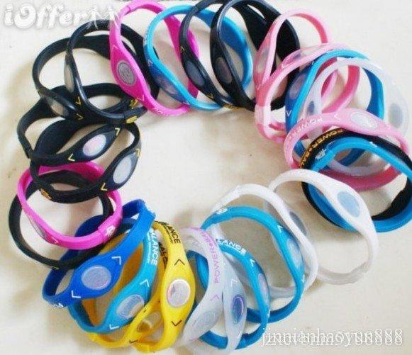 50Pcs ower Balance Bracelet Silicone Bracelets Band