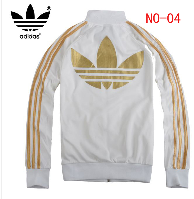 Adidas Big Logo Mens & Womens Sport jacket white/gold