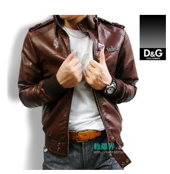 New D&G Men DG leather Jacket D G COAT d2