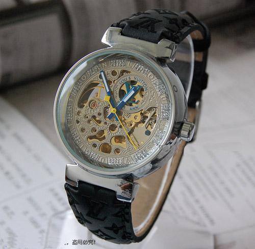 Louis Vuitton men Womens Yellow Belt Watch