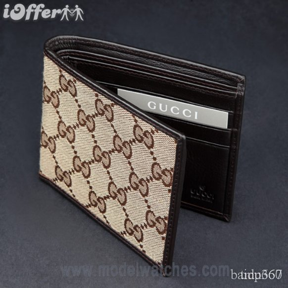 New Brown Monogram Gucci Mens Wallet Comescb