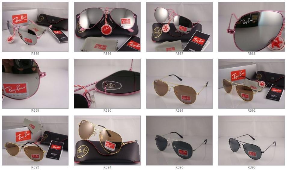 RayBan ray ban Aviator Sunglasses Gold Green RC1