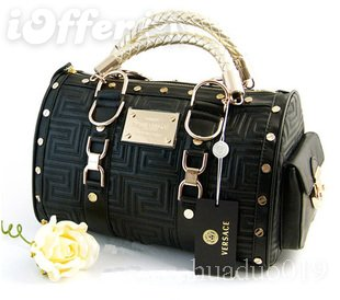 Versace/// bag handbag purse with gold hardware `1