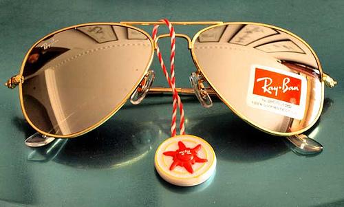 RayBan AVIATOR Sunglasses RB3025 Gold Mirror rayban