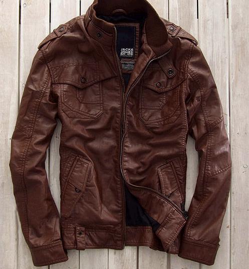 Spring NWT Jack Jones Men Leather jackets