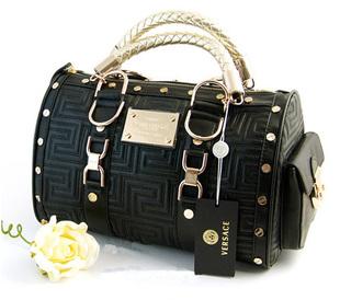 Versace tote handbag bag purse with gold hardware 3t