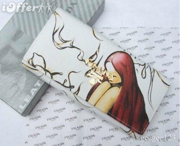 womens Prada Fairies Fairy White wallet purse holder` d