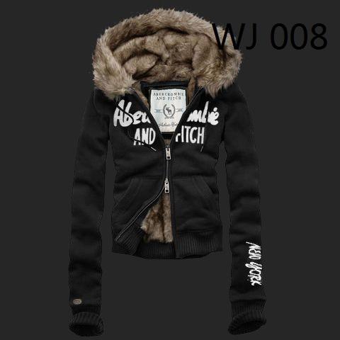 Abercrombie Fitch women's fur jacket hoodies,8 colors