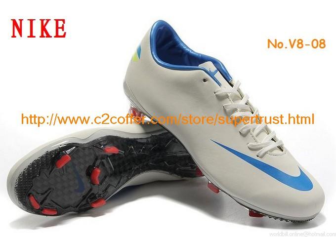 Ni'ke Mercurial Vapor VIII FG Carbon Fibre Soccer Shoes