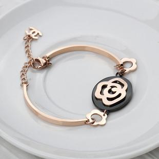 Chanel gold camellia bracelet