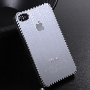 iPhone 4 4S Mobile shell brushed metal shell