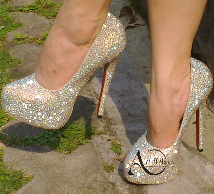 ch ristianLouboutin platform full crystal shoes