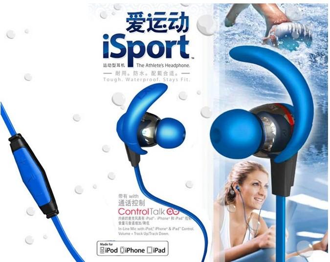 monster isport Waterproof and sweat Sports headphone qq