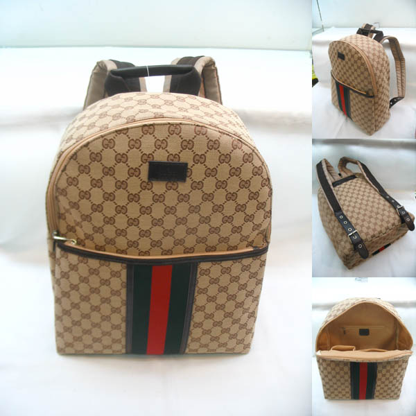 GUCCI Men's Beige Casual Backpack  a