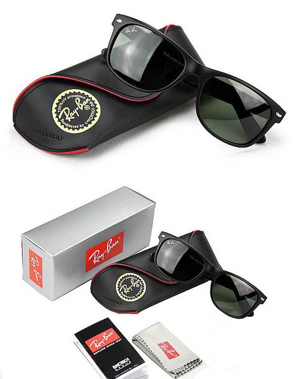 "Black Frame Ray Bans Wayfarer Sunglasses RB2140 QT8"""