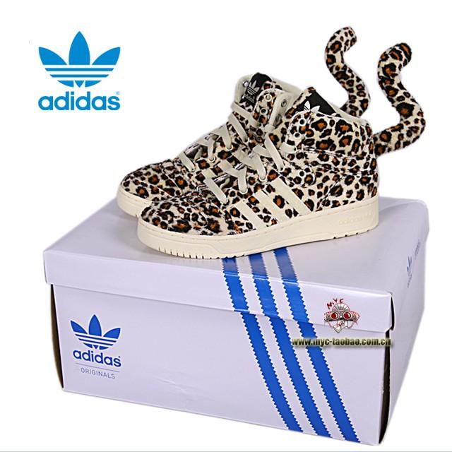 ? Adidas JS LEOPARD JEREMY SCOTT sneaker shoes^.j