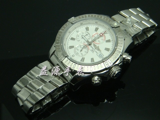 Breitling Watch  00489 Men's All-steel Wristwatches