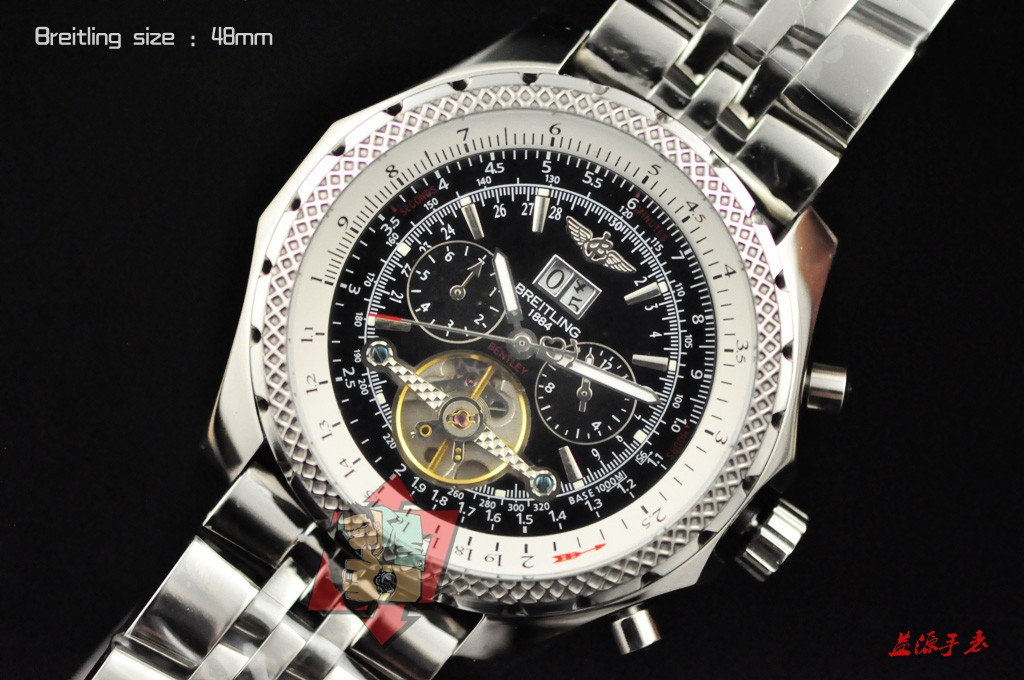 Breitling Watch 01000 Men's All-steel Wristwatches
