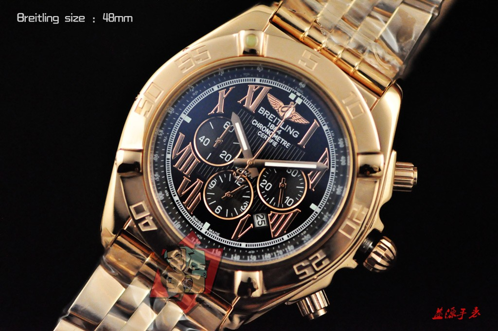 Breitling Watch 01002 Men's All-steel Wristwatches