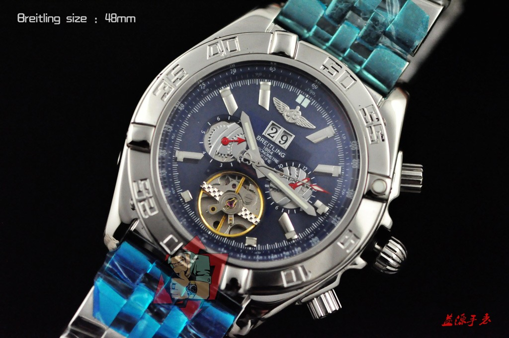 Breitling Watch 01003 Men's All-steel Wristwatches