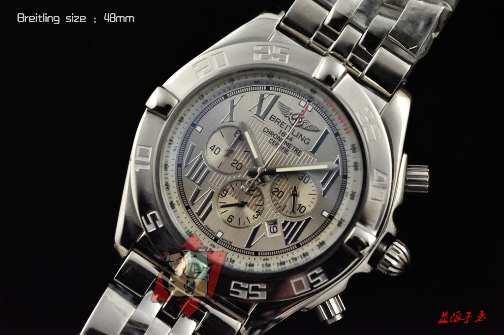 Breitling Watch 01006 Men's All-steel Wristwatches