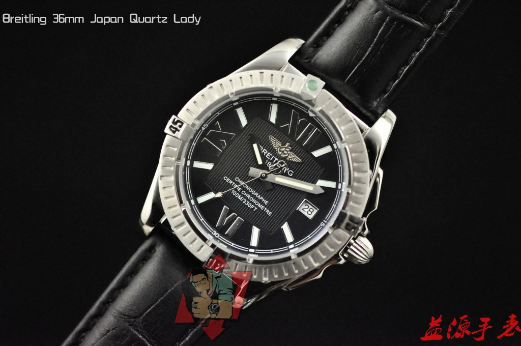 Breitling Watch  01047 Men's All-steel Wristwatches