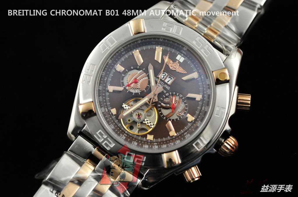 Breitling Watch  001081 Men's All-steel Wristwatches