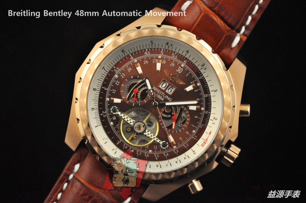 Breitling Watch  001086 Men's All-steel Wristwatches