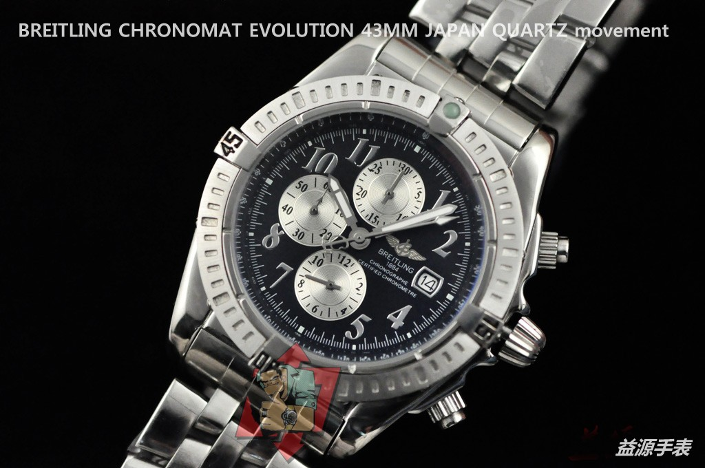 Breitling Watch 01107 Men's All-steel Wristwatches