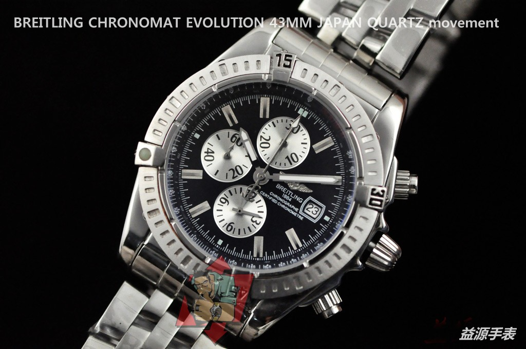 Breitling Watch 01110 Men's All-steel Wristwatches