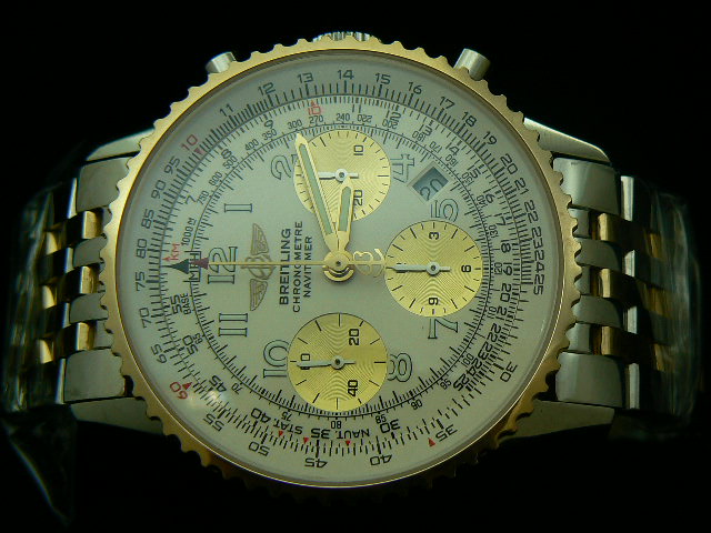 BREITLING NAVITIMER ch rONO 2 TONE WHITE NUMERAL 7750
