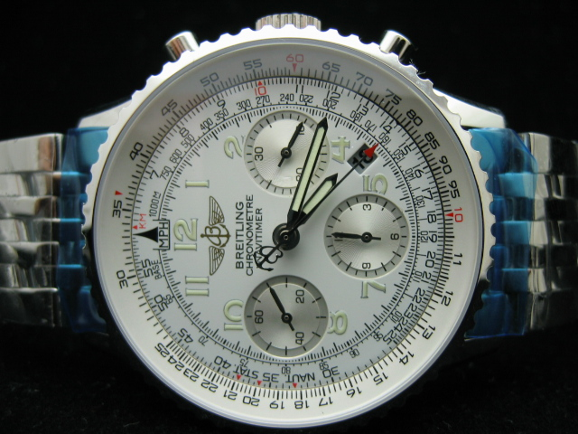 BREITLING NAVITIMER ch rONO ALL WHITE 7750
