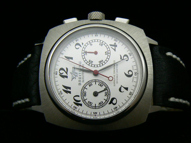 BREITLING VINTAGE ch rONO LEATHER LEMALIA