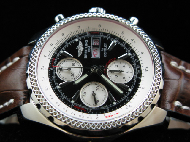 BREITLING BENTLEY GT 7750 28800bph BLACK/BROWN LEATHER