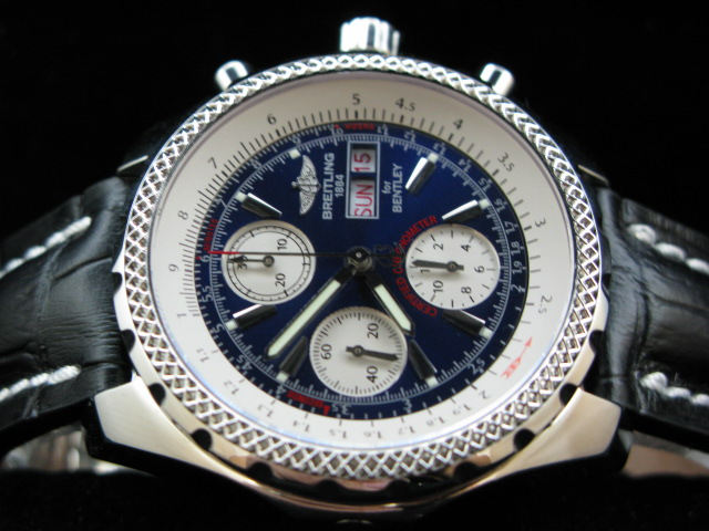 BREITLING BENTLEY GT 7750 28800bph BLUE/BLACK LEATHER