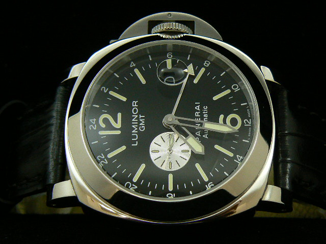 PANERAI LUMINOR GMT AUTOMATIC WITH BLACK LEATHER